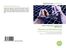 Bookcover of Slavery at Common Law