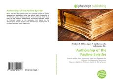 Capa do livro de Authorship of the Pauline Epistles