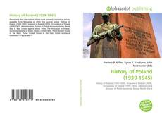 Capa do livro de History of Poland ( 1939-1945)