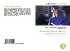 Bookcover of University of Manchester