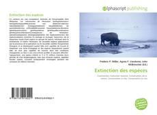 Portada del libro de Extinction des espèces