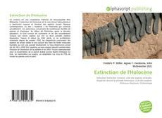 Bookcover of Extinction de l'Holocène