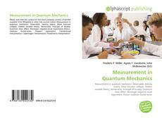 Bookcover of Measurement in Quantum Mechanics