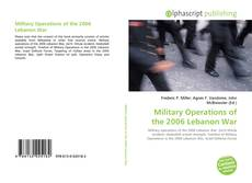 Military Operations of the 2006 Lebanon War的封面