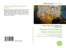 Couverture de History of Confederate States Army Generals