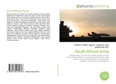 Portada del libro de South African Army