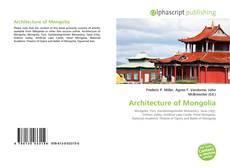 Bookcover of Architecture of Mongolia