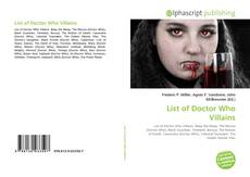 Bookcover of List of Doctor Who Villains
