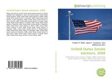 Обложка United States Senate elections, 2008