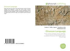 Bookcover of Etruscan Language