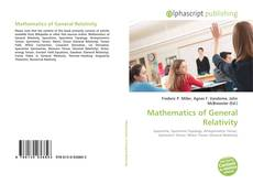 Bookcover of Mathematics of General Relativity