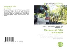 Bookcover of Massacres of Poles in Volhynia