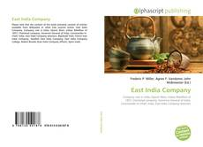 Bookcover of East India Company