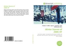 Portada del libro de Winter Storms of 2006–07