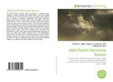 Bookcover of 2003 Pacific Hurricane Season