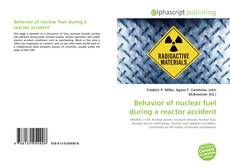 Bookcover of Behavior of nuclear fuel during a reactor accident
