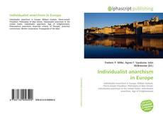 Portada del libro de Individualist anarchism in Europe