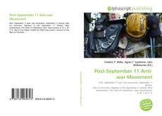 Bookcover of Post-September 11 Anti-war Movement