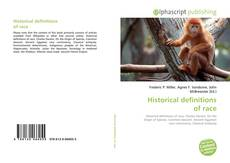 Bookcover of Historical definitions of race