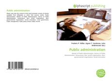 Bookcover of Public administration