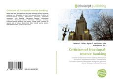 Couverture de Criticism of fractional-reserve banking