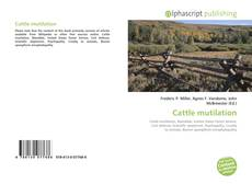Bookcover of Cattle mutilation