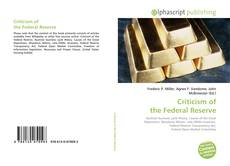 Bookcover of Criticism of the Federal Reserve
