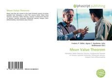 Copertina di Mean Value Theorem