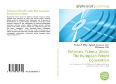 Software Patents Under The European Patent Convention kitap kapağı