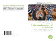 Couverture de Indigenous Languages of the Americas