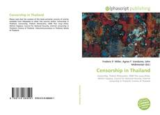 Bookcover of Censorship in Thailand