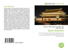 Bookcover of Boxer Rebellion