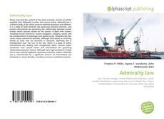 Couverture de Admiralty law