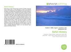 Capa do livro de Bahá'í History