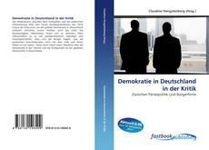 Demokratie in Deutschland in der Kritik kitap kapağı