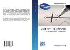 Buchcover von Droit de vote des femmes