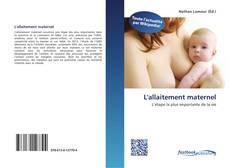 Bookcover of L'allaitement maternel
