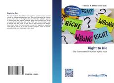 Bookcover of Right to Die