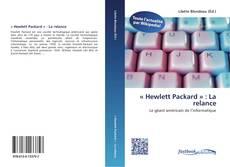 Bookcover of « Hewlett Packard » : La relance