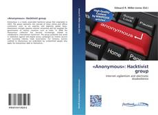 Portada del libro de «Anonymous»: Hacktivist group