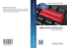 Afghanistan earthquakes kitap kapağı