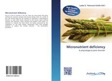 Bookcover of Micronutrient deficiency