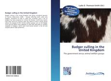 Portada del libro de Badger culling in the United Kingdom