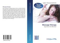 Bookcover of Massage therapy