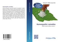 Bookcover of Homeopathic remedies