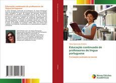 Обложка Educação continuada de professores de língua portuguesa