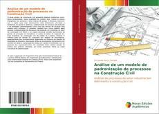 Capa do livro de Análise de um modelo de padronização de processos na Construção Civil