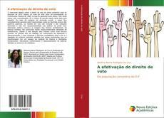 Copertina di A efetivação do direito de voto