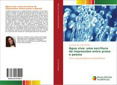 Capa do livro de Água viva: uma escritura de impressões entre prosa e poesia