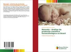 Capa do livro de Neonato - Análise da produção científica fonoaudiológica no Brasil